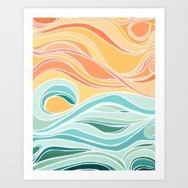 Sea and Sky II / Abstract Landscape Art Print