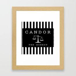 CANDOR - DIVERGENT Framed Art Print