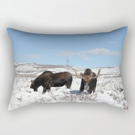 Moose in Antelope Flats Rectangular Pillow