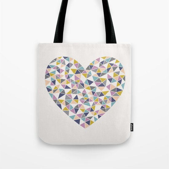 Faceted Heart Tote Bag