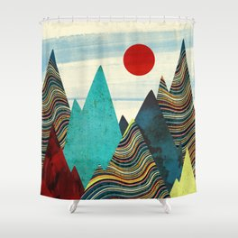 Color Peaks Shower Curtain