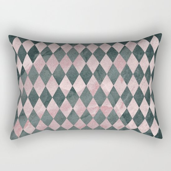 Marble Harlequin Rectangular Pillow