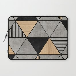 Concrete and Wood Triangles 2 Laptop Sleeve