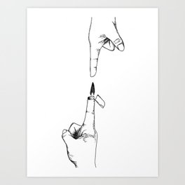 Hot to the Touch Art Print