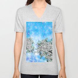 NEBULA TREES Unisex V-Neck