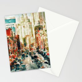 Winter in Chinatown - New York Stationery Cards