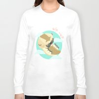 aang Long Sleeve T-shirts featuring Appa - Avatar the legendo of Aang by Manfred Maroto