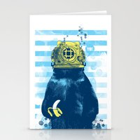 diver Stationery Cards featuring Wild Diver by Steven Toang
