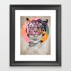 The Tiger Lady Framed Art Print