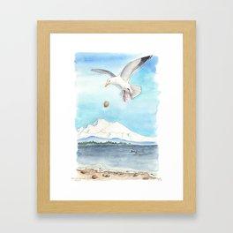 Clams for Lunch Framed Art Print
