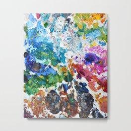 Artist's Palette Pattern Metal Print