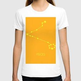PISCES (YELLOW-ORANGE STAR SIGN) T-shirt