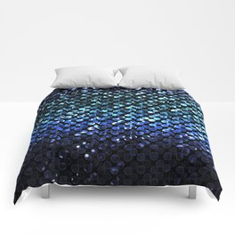Crystal Bling Strass Blue G312 Comforters