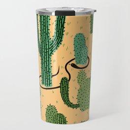 The Snake, The Cactus and The Desert Travel Mug