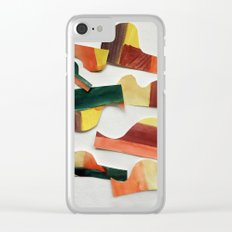Reconstruct the deconstruction of sunset Clear iPhone Case