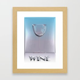 The Wine Glass Framed Art Print
