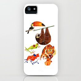 Rainforest animals 2 iPhone Case