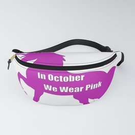 Breast Cancer Awareness In October We Wear Pink Unicorn Fanny Pack