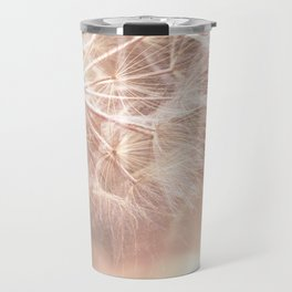Pink Macro (2) Dandelion Flower - Floral Nature Photography Art and Accessories Travel Mug