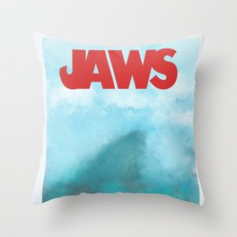 Jaws Throw Pillow