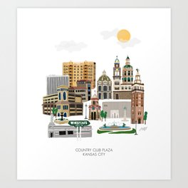 Kansas City Plaza Art Print