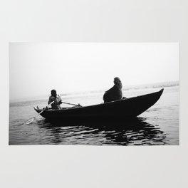 In search of peace, Varanasi. INDIA Rug