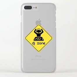 DJ Zone Rave Quote Clear iPhone Case