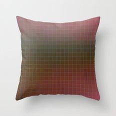 Pixels Pink & Green Throw Pillow