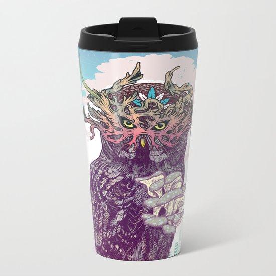 Journeying Spirit (Owl) Metal Travel Mug