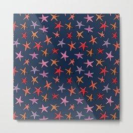 Starfishes in deep ocean Metal Print