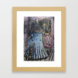 Moon lit night Framed Art Print