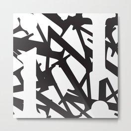 Abstract Text 1 Metal Print