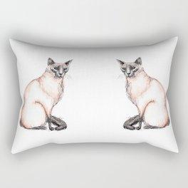 Balinese cat Rectangular Pillow