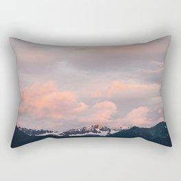 Alaskan Mountain Sunset (Pink) II Rectangular Pillow