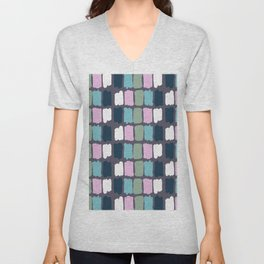 Modern mauve purple watercolor brushstrokes palette Unisex V-Neck