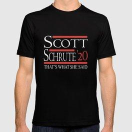 scott schrute 20 thats what she said nerd T-shirt