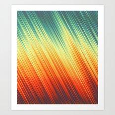 Colorful Rays 3 Art Print