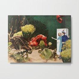 Under the Sea // Seahorses Metal Print