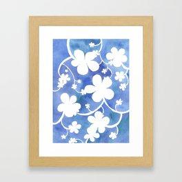 Flowers of snow Framed Art Print