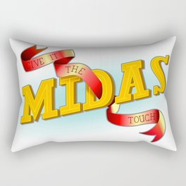 Give It The Midas Touch Rectangular Pillow
