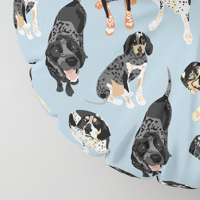 Bluetick Coonhounds Floor Pillow