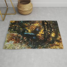 jesus christ abstract painting Rug