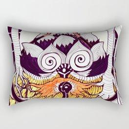 Omni Om. Man, Cat and Trees Rectangular Pillow