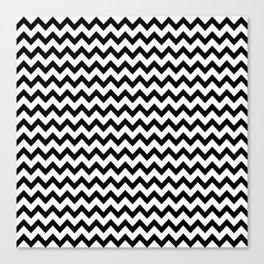 Black & White Zig Zag Pattern Canvas Print