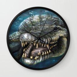 aussie croc Wall Clock