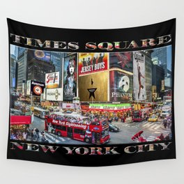 Times Square II (widescreen on black) Wall Tapestry