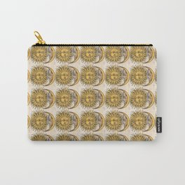 Sun and Moon Face Pattern 3 Carry-All Pouch