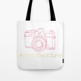 Prettylittlepictures Gold & Pink Tote Bag