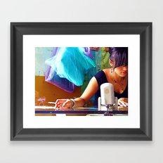 Pretty Girl, Ugly Habit Framed Art Print
