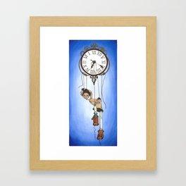 Puppet time ~ Marionetas del tiempo Framed Art Print